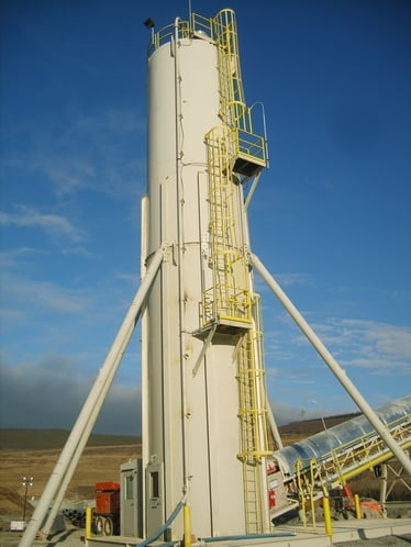 lime silo discharge
