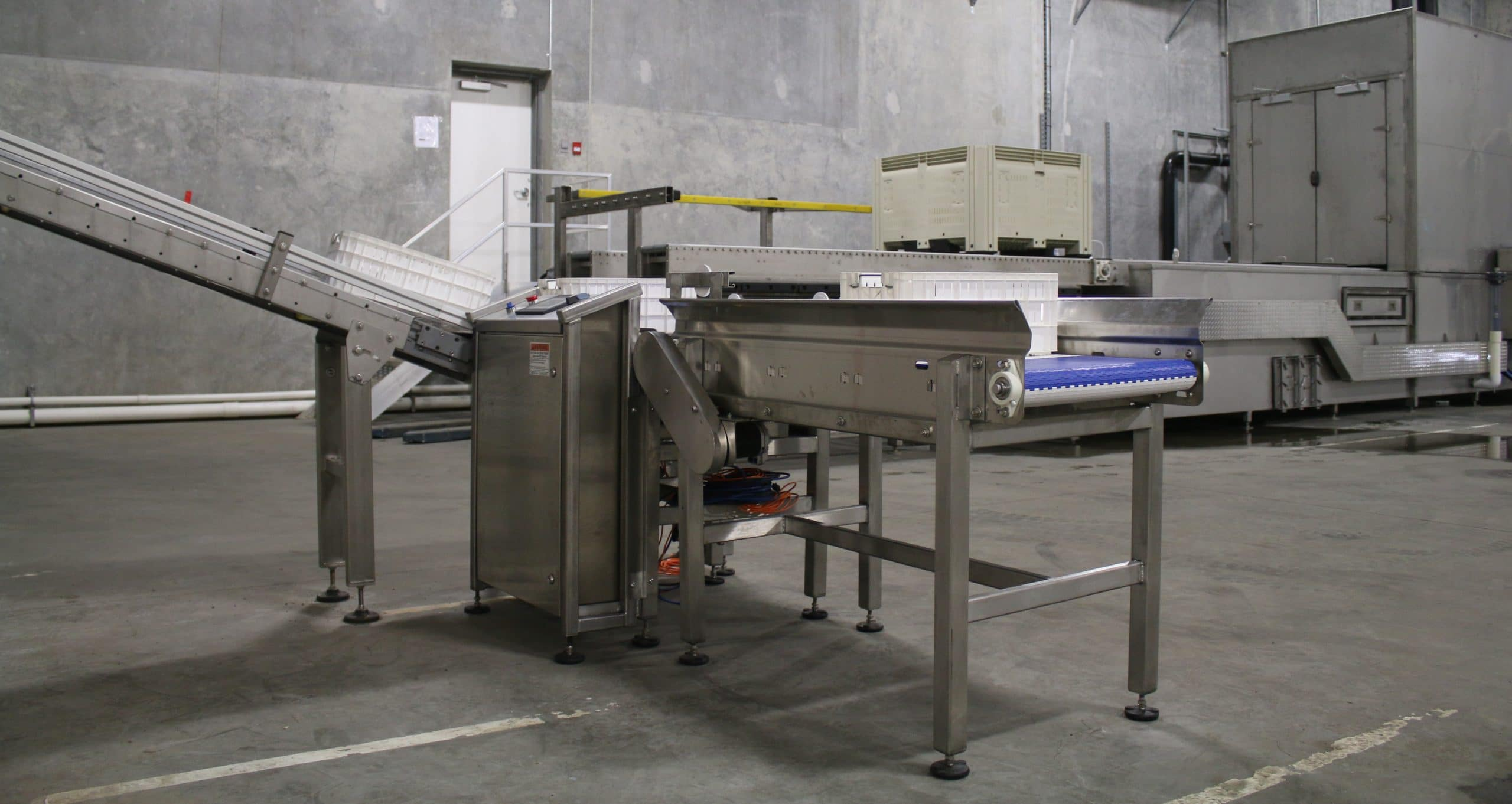 in motion weigh conveyor system waycon manufacturing